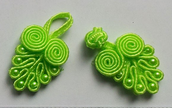 Lime Green Fasteners Closures Beaded Buttons from BBChris on Etsy