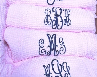 Personalized Bridesmaids Gifts, Monogrammed Robe, Waffle Robe, Kimono Spa Robe, Personalized Bridesmaids Gift