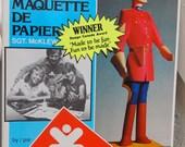 Vintage Canadiana: 1980 Kaperkit Sgt McKlew RCMP mountie art paper sculpture