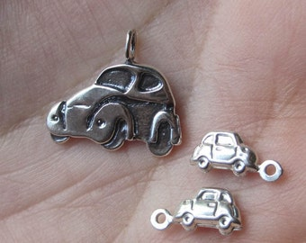 Sterling Silver Volkswagen Car or Tiny Car Charms(you choose which one)