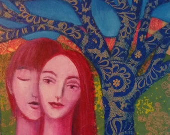Lovers and Blue Tree