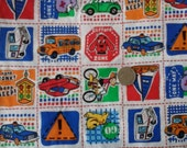 Sale Clifford Transportation Novelty Fabric by Cranston 100% Cotton 1 yard x 43/44""