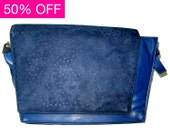 GIANNI VERSACE - Vintage Abstract suede & leather across body / clutch bag