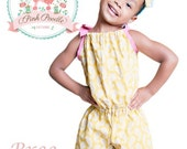 "Pillowcase Romper Pattern, Girls Romper Sewing Pattern, Easy PDF Sewing Patterns, Girls, Children, Toddler, Baby, Size 3m-8 ""Bree Romper"""
