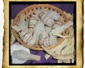 "Wild Harvested California White Sage Bundle, sm 3-4"" hand wrapped for blessing and cleansing"
