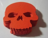 80 Halloween Orange Skull Cut-outs 50 Large Skulls and 30 Small Skulls All Hallows Samhain
