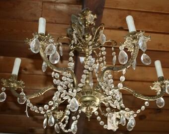 Elegant Vintage Brass Spanish Chandelier