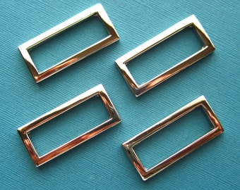 D-Rings in Nickel Rectangular 1 1/2 Inch Set of 4