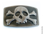 Jolly Rogers Belt Buckle by WATTO Distinctive Metal Wear / Mens Belt Buckle, Pirate Belt Buckle Made From Metal for Navy and Sailors