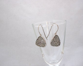Precious Metal Clay Earrings Sterling Silver Earwires -----PMC------Free Shipping