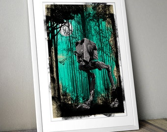Star Wars Inspired Print (FOREST MOON) A3