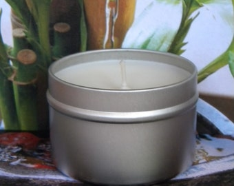 PEACE OUT Handmade Candles - Bamboo, Floral & Grass, Scented Soy Candles - Clean Fresh Scent