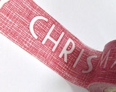 Washi Tape - 15mm - MERRY CHRISTMAS on Red - Deco Paper Tape No. 271