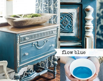 Miss Mustard Seed Milk Paint - Flow Blue from Emily Rose Vintage Glasgow