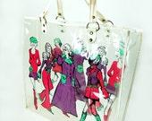 MOD Tote Merylynn Fashion Illustration Plastic Vinyl Groovy 1960s