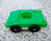 Vintage Little People Green and White Family car