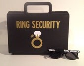 Ring Security, Ring Bearer Gift, Secret Agent, Ring bearer, Ring Security Box, Ring Security Briefcase, Ring Bearer Pillow Alternative