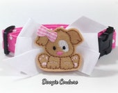 Brand New Adorable Pink Puppy Dog Collar Size XS through Large by Doogie Couture