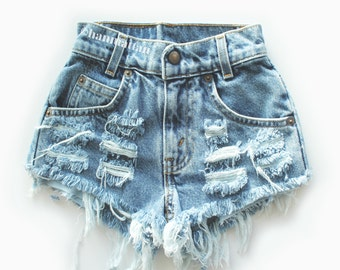 Levi high waisted denim shorts – Etsy