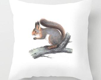 Vintage Squirrel cushion / pillow