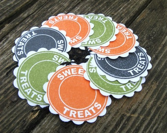 Halloween Treat Tags, Treat Bag Tags, Treat Labels, Candy Labels, Halloween Candy, Halloween Party Supplies, Trick or Treat, Treat Tags