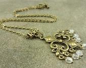 Chandelier Necklace Antiqued Bronze