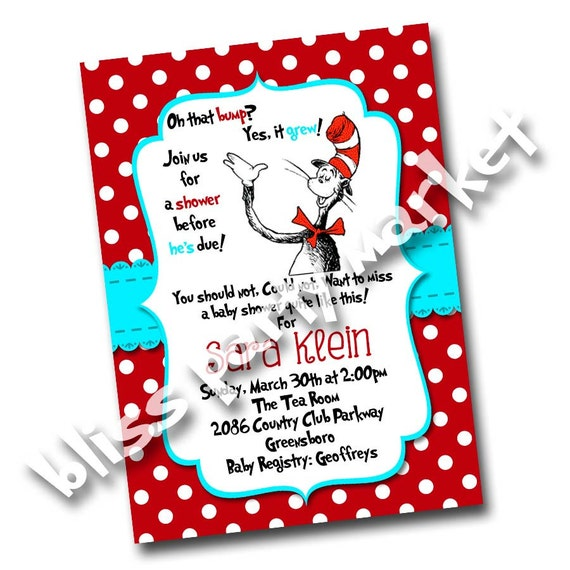 Dr Seuss Invite with perfect invitations example