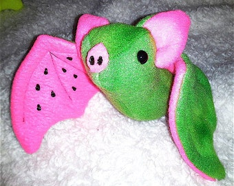 Fruit Bat Plushie - Watermelon