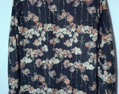 vintage grunge 70s seventies polyester flowers shirt men boho disco floral