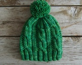 Kettle Creek - Cable Hat Knitting Pattern - Adult Knit Hat - Bulky Hat - Chunky Hat - Beanie