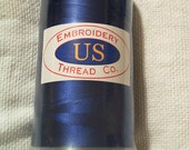 new full cone embroidery thread blue rayon in original package destash
