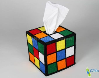 The ORIGINAL & BEST SELLING Rubik's Cube Tissue Box Cover  as seen on tv The Big Bang Theory
