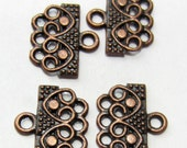 12 Antique copper connectors 3 to one jewelry connector 14mm x 16mm 570Y-SR8-4