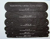 NO LIMIT Leather Supply - Leather Bracelet Variety Pack - Pick your Leather Colors/Sizes/Snaps -