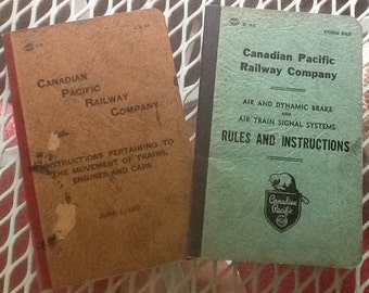 Two Canadian Pacific Railway Rules and Instruction Books