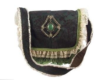 Victorian Faux Suede Bag