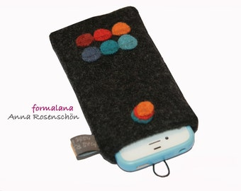 dark gray anthracite sleeve cover felted wool iPhone Samsung