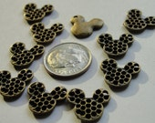 Set of 10 Mouse Head Charm Embellishments perfect for Mini Books, Birthday Cards, Scrapbook Layouts of the Magic Kingdom