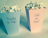Mini Popcorn Box - Baby Shower Favor - Printed Matte Paper
