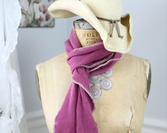 pretty in pink cashmere scarf