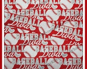 New 3 yards 7/8 Glitter RED w/ Grey White BASEBALL DIVA Sports Cheer Grosgrain Ribbon for Hair Bows hearts balls sports decor team cheer