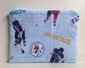 Sandwich Bag, Reusable  - Hockey