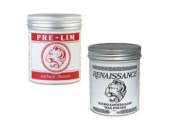 Pre-Lim Metal Cleaner & Renaissance Wax Polish - Bundle Kit. Buy together and save