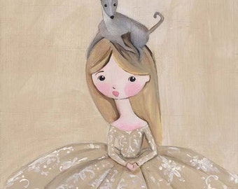 Italian Greyhound Art Print Ste. Emily and Her Groupie