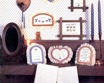 Hearts N Stitches Patchwork Hearts Wedding Friendship Welcome Samplers Motifs Counted Cross Stitch Embroidery Craft Pattern Leaflet LF 4