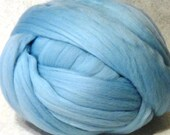 Merino Wool Roving -  Ice Blue  Wool Roving - 8oz