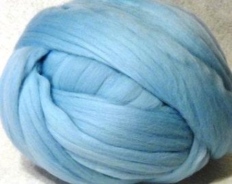 Merino Wool Roving -  Ice Blue  Wool Roving, Ice Blue Merino Roving, Ice Blue Roving - 8oz