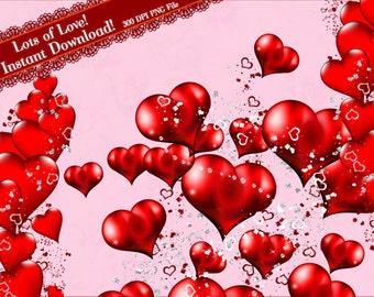 Heart Clipart, Valentine Clipart, Love Clipart, Heart Graphics