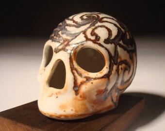 Festive Burnt Iron Skull