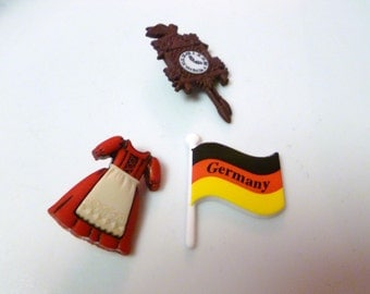 Earrings Mix and Match Collection Set of Three German Flag Dress and Cookoo Clock